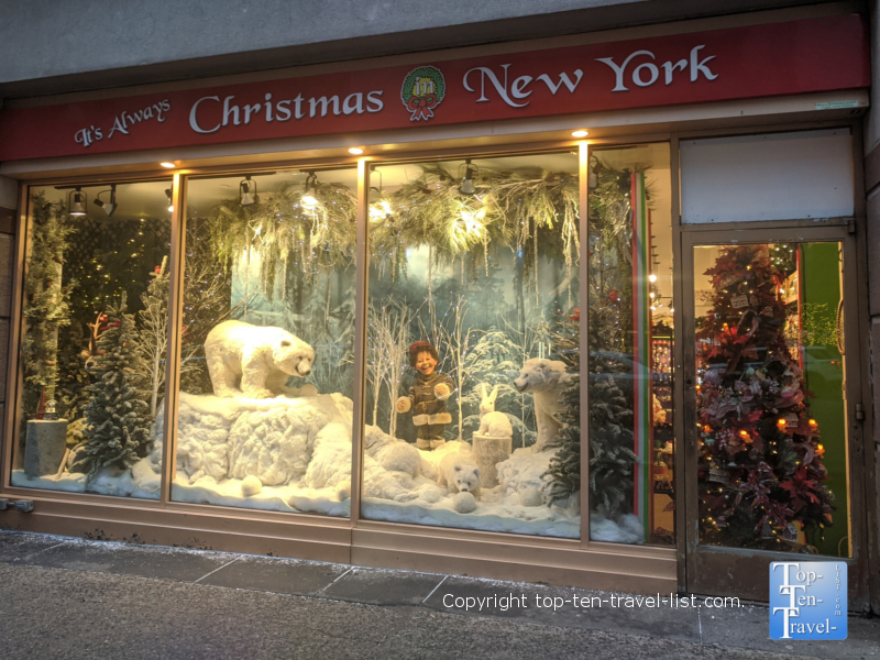 It's Always Christmas in New York Store