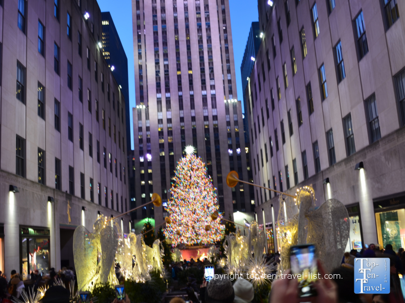 Rockefeller Center Christmas tree in NYC