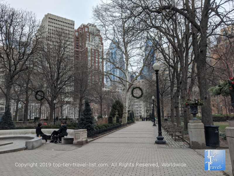 Winter at Rittenhouse Square in Philadelphia
