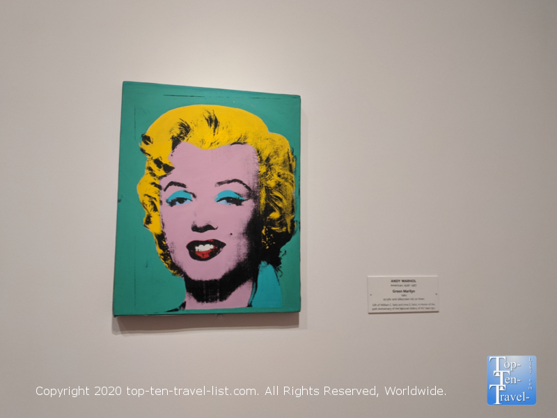 Andy Warhol artwork at the National Gallery of Art east building in Washington D.C.