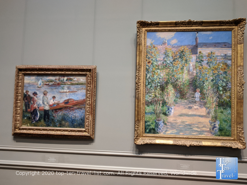 Claude Monet artwork at the National Gallery of Art west building in Washington D.C.