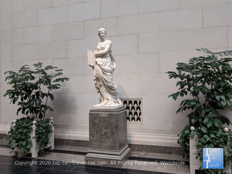 One of numerous marble sculptures at the National Gallery of Art West Building in Washington D.C.