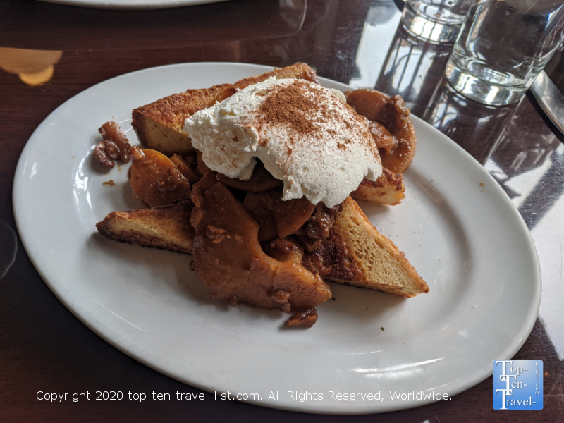 Caramel Apple Walnut French Toast at Farmicia in Old City Philadelphia