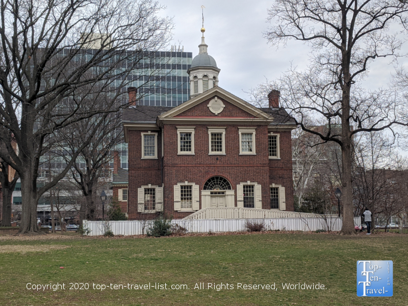 Carpenters Hall in Old City Philadelphia