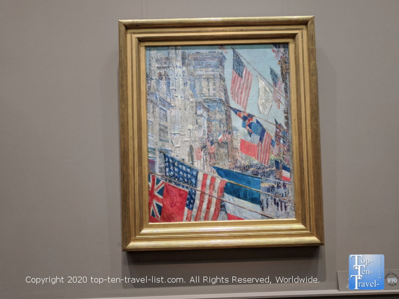Childe Hassam painting at the National Gallery of Art west building in Washington D.C.