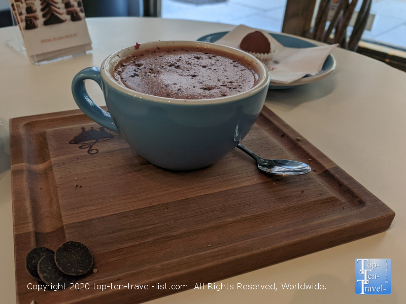 Dark cocoa at Cafe Chocolat in Washington D.C.