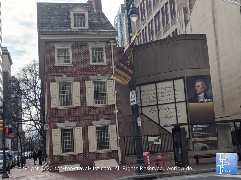Declaration House in Old City Philadelphia