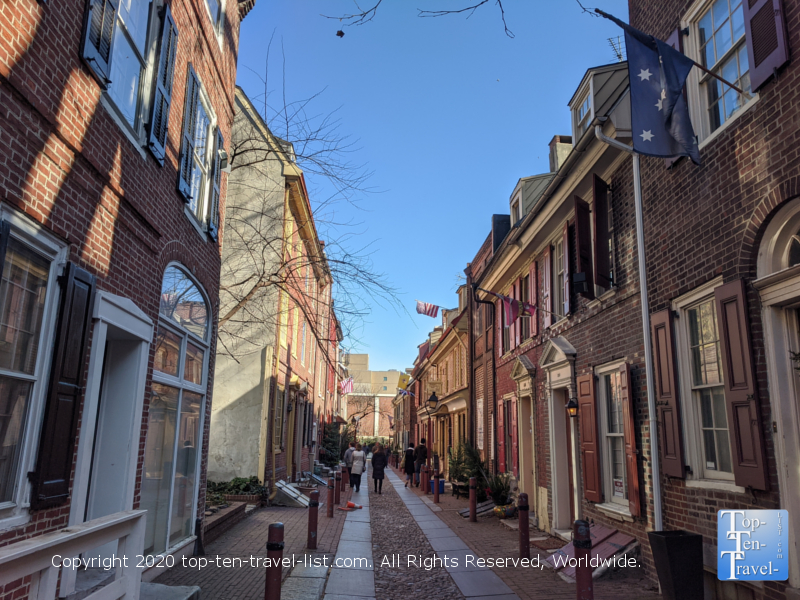 Elfreth's Alley in Old City Philadelphia