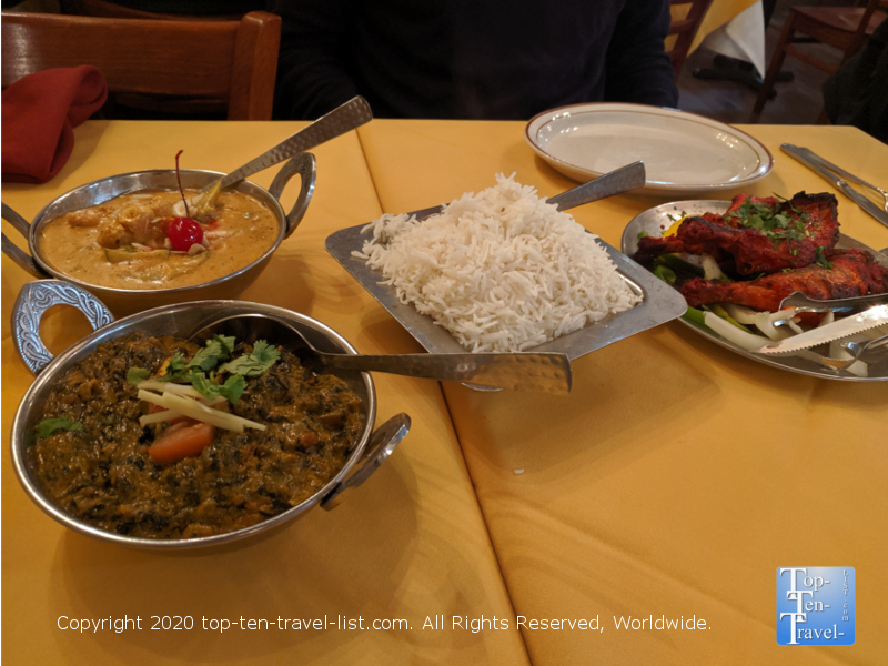 Wonderful Indian dishes at Etka, rated one of the best Indian restaurants in the US