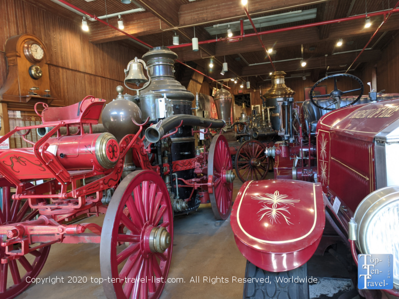 Old firetrucks at the Fireman's Hall Museum in Old City Philadelphia