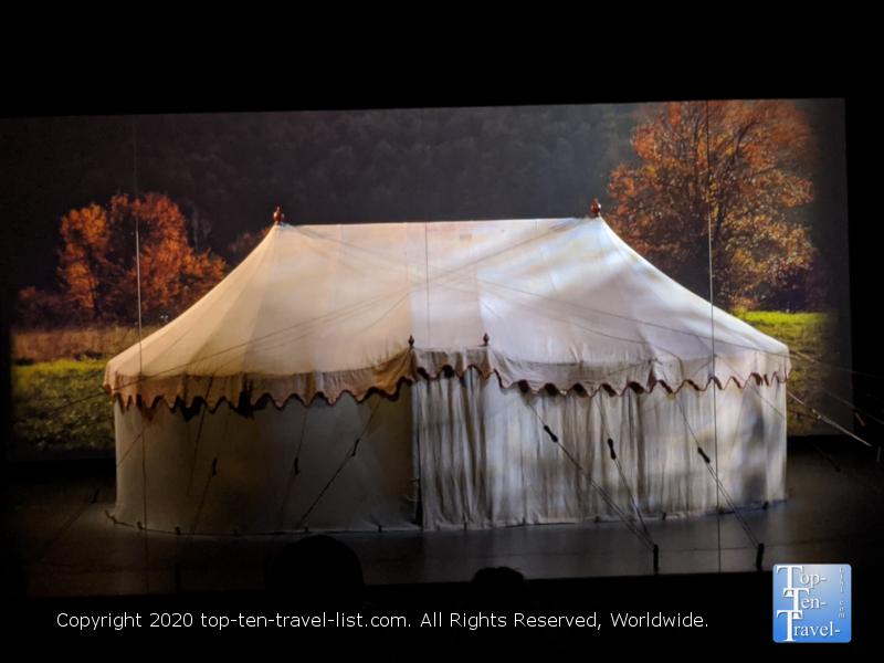 George Washington's tent at the Museum of the American Revolution in Old City Philadelphia
