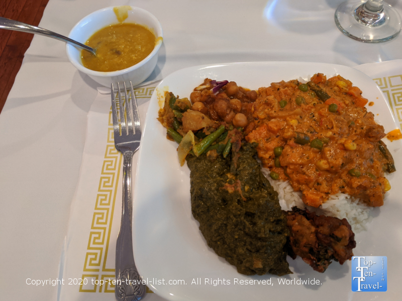 Fantastic lunch buffet at Nirvana Indian Bistro in Lafayette Hills, PA
