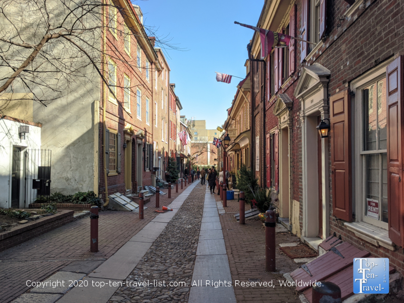 Elfreths Alley in Old City Philadelphia - the oldest continuously inhabited street in the US.