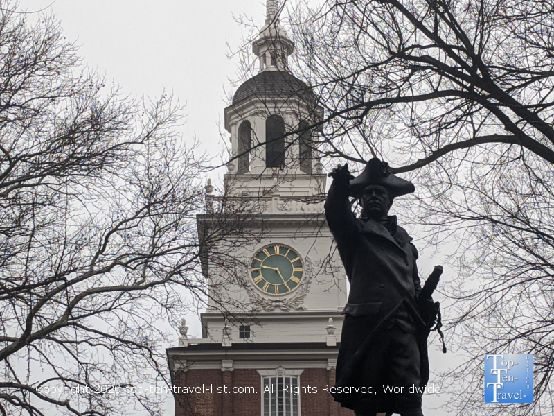 Commodore John Barry statue in Independence Square in Old City Philadelphia