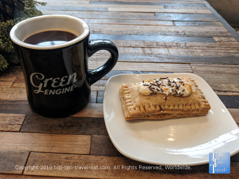 Great coffee and poptart pastry at Green Engine in Haverford, PA