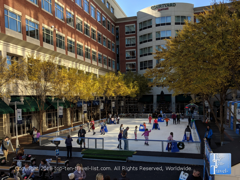 Ice on Main skating rink in downtown Greenville, South Carolina