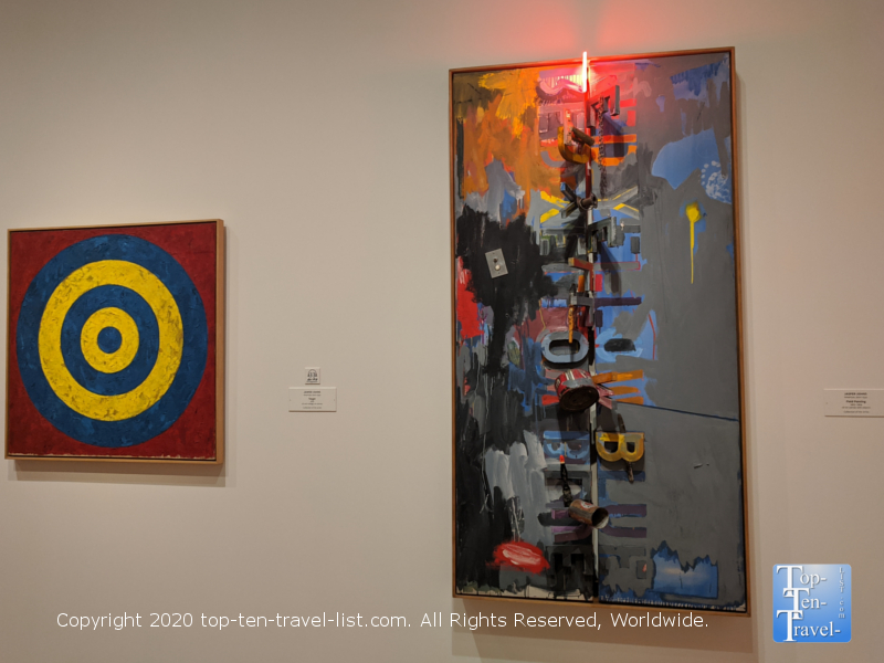 Jasper Johns artwork at the National Gallery of Art east building in Washington D.C.