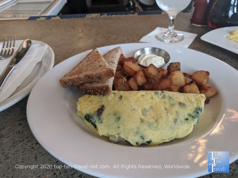 Kale and Gouda cheese omelet at the Continental Diner in Old City Philadelphia