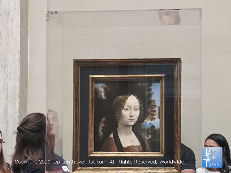 Ginevra de'Benci portrait by Leonardo da Vinci at the National Gallery of Art in Washington D.C.