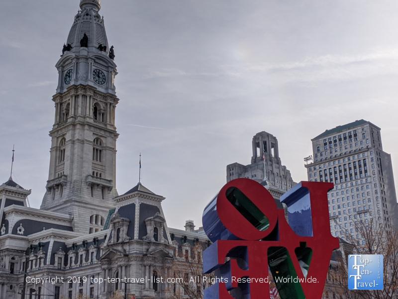 The famous Love sculpture in Philadelphia