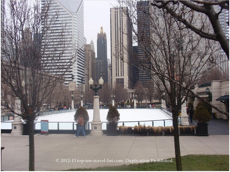 Millennium Park Ice Rink in downtown Chicago