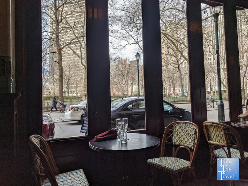 Parc restaurant in Philadelphia's trendy Rittenhouse Square neighborhood