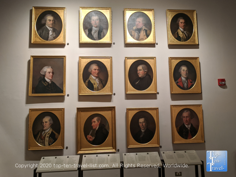 Historic portraits at the Second Bank Portrait Gallery in Old City Philadelphia