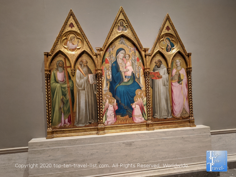 Religious artwork at the National Gallery of Art west building in Washington D.C.