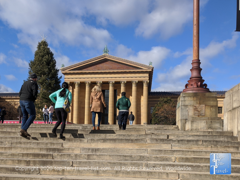 The Rocky steps at the Philadelphia Museum of Art