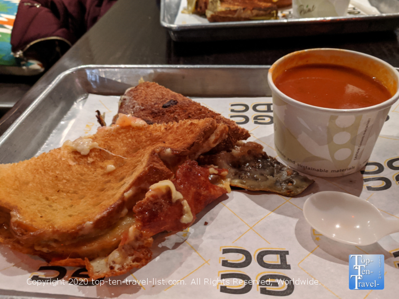 Smoked Gouda and Apple Grilled Cheese at GCDC grilled cheese bar in Washington D.C.
