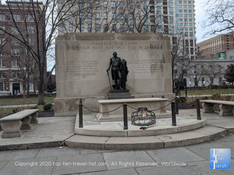Tomb of the Unknown Soldier at Washington Square park in Philadelphia