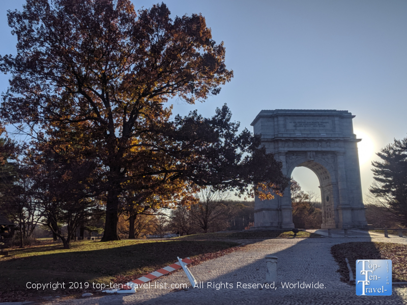 National Memorial Arch at Valley Forge National Park in Pennsylvania