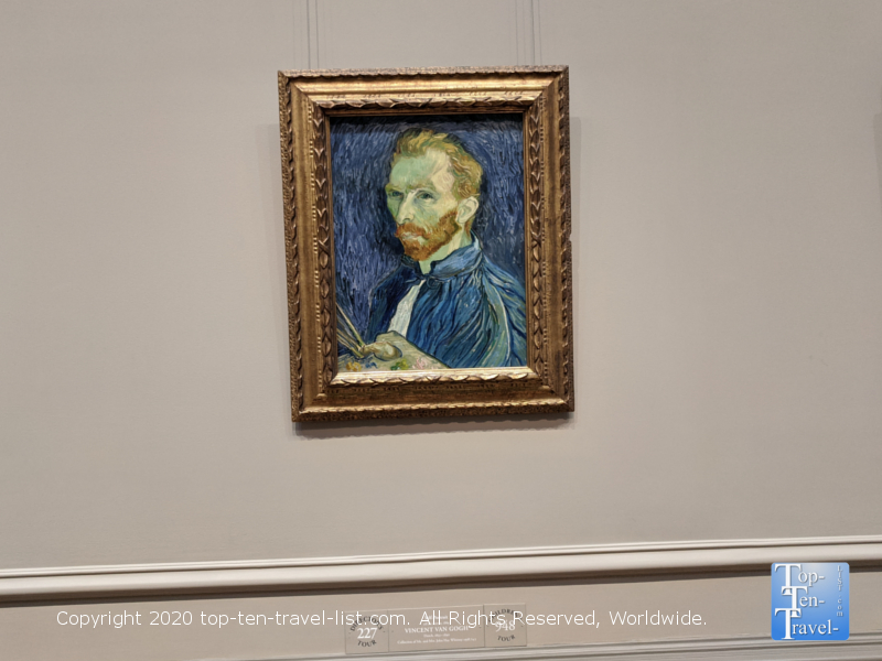 Vincent Van Gogh self portrait at the National Gallery of Art West building in Washington D.C.