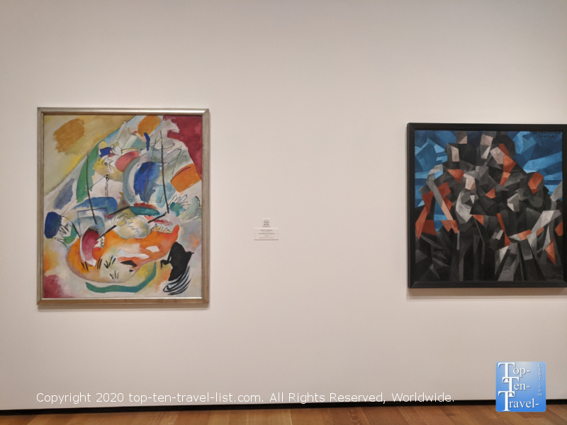 Colorful modern art pieces at the National Gallery of Art East building in Washington D.C.