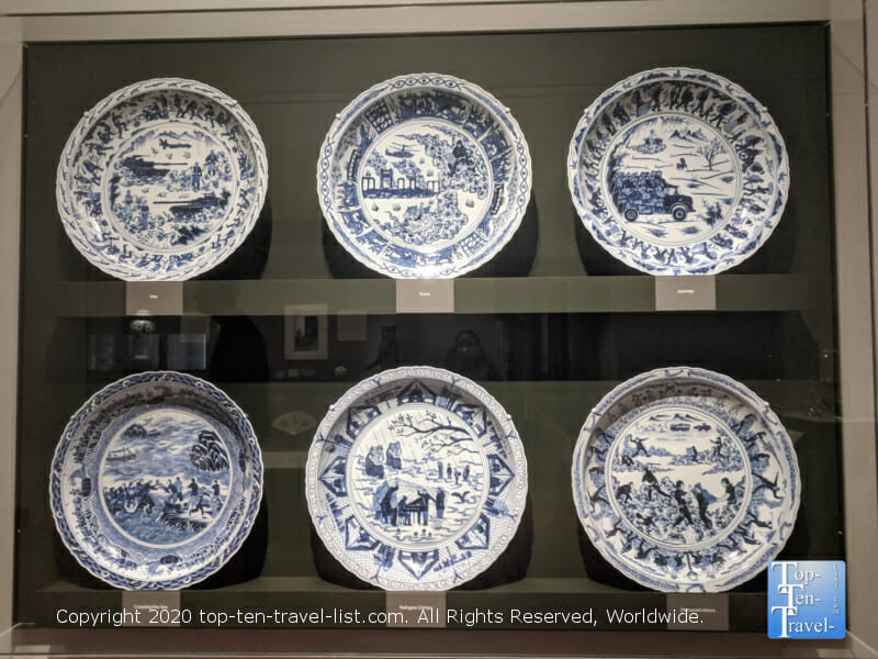 Ming Dynasty porcelain plates at the Philadelphia Museum of Art