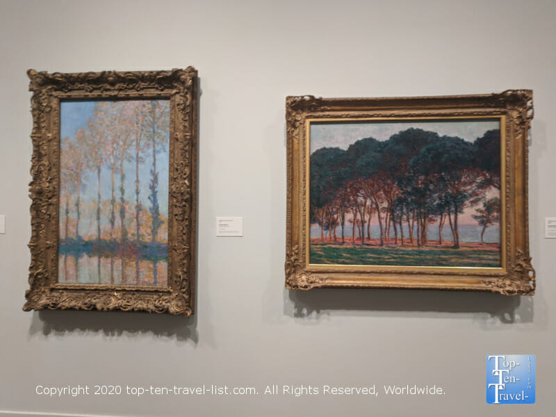 Colorful artwork by Claude Monet at the Philadelphia Museum of Art