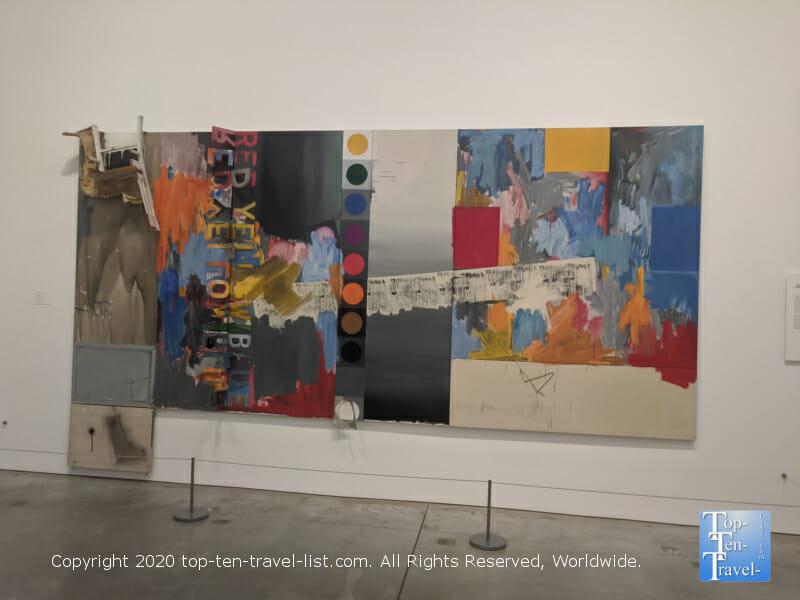 Colorful modern artwork at the Philadelphia Museum of Art