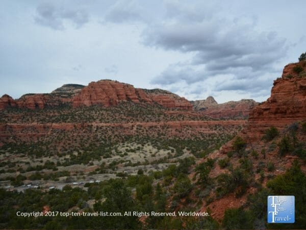 Amazing scenery hiking up Doe Mountain in Sedona, Arizona