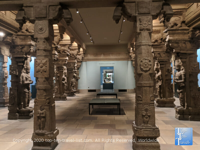 Hall from the Madanagopala Swamy temple at the Philadelphia Museum of Art