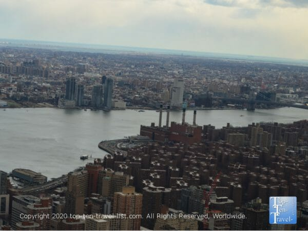 Beautiful scenery via the 86th floor observatory of the Empire State building
