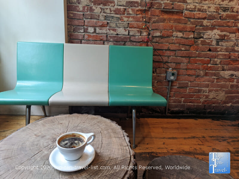 Perfectly made Americano at Menagerie Coffee in Old City Philadelphia