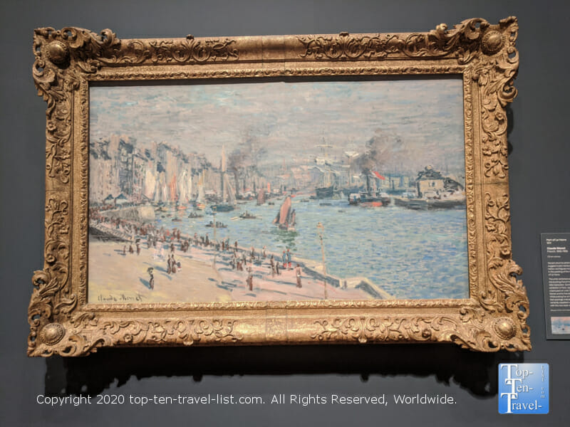 Port of Le Havre by Claude Monet at the Philadelphia Museum of Art