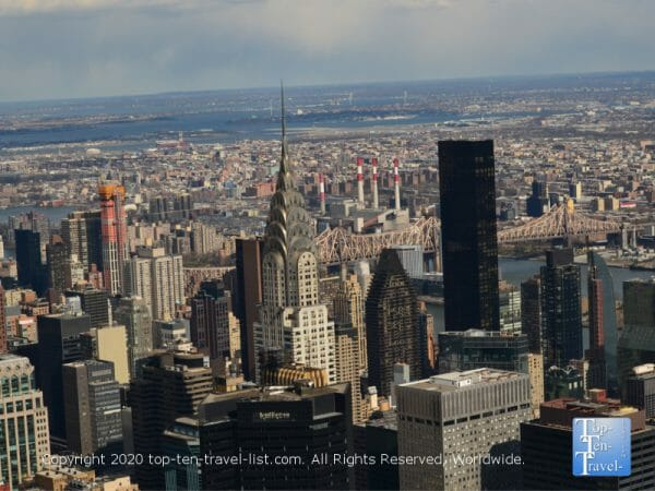 Amazing city scenery via the 86th floor observation deck of the Empire State Building