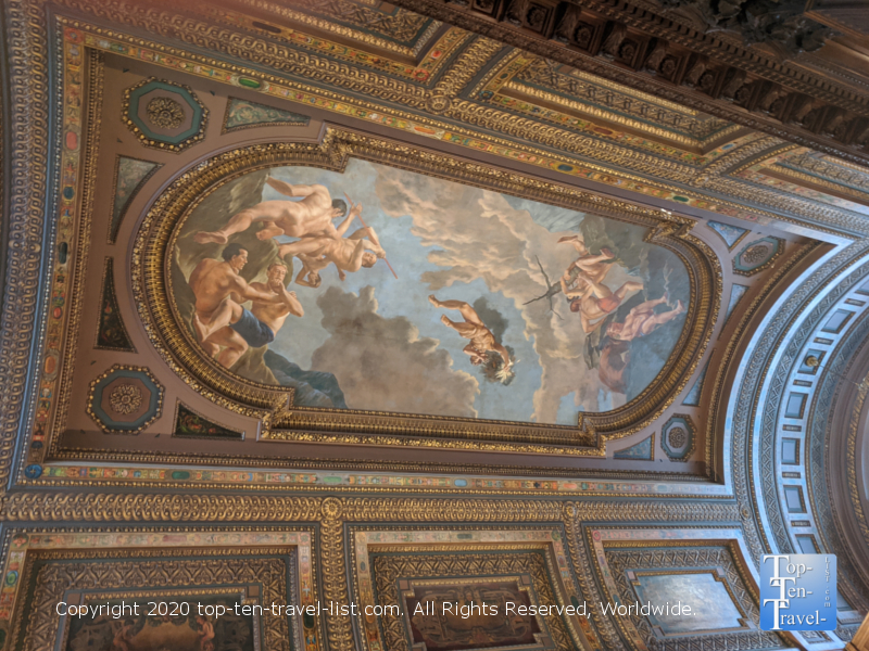 Pretty mural at the New York Public Library