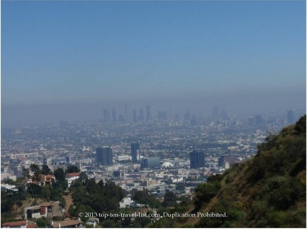 Views of L.A. from hiking Runyon Canyon