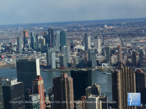Scenic views of New York via the Empire State building observatory