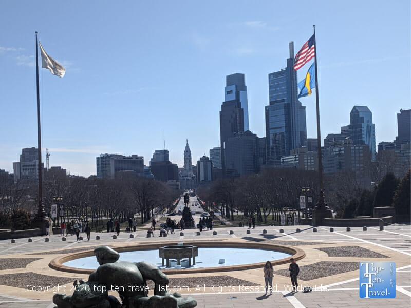 Scenic vista from the Philadelphia Museum of Art