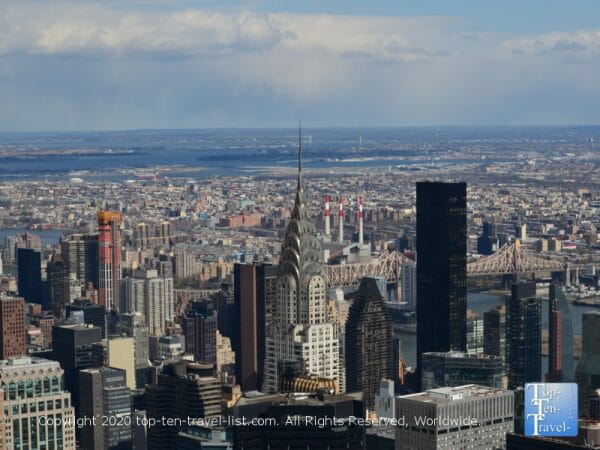 Beautiful cityscape views via the 86th floor observatory of the Empire state building