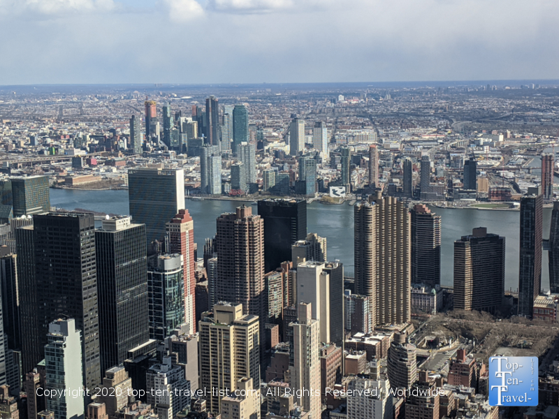 Gorgeous views of the city from the Empire State building in New York City