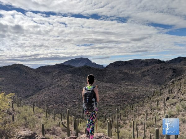 Hiking the gorgeous Bowen Hidden Canyon trail in Tucson